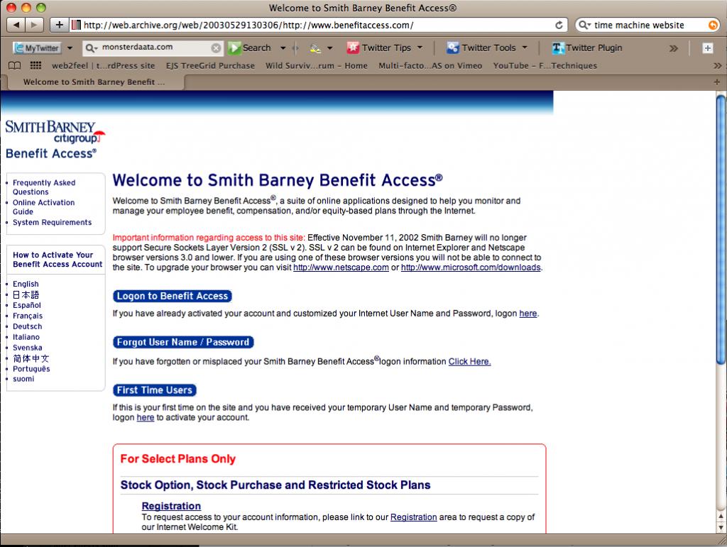 Smith Barney Benefit Access