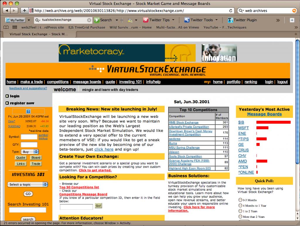 VirtualStockExchange
