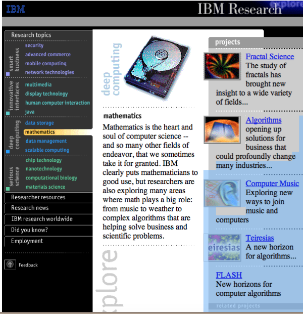 IBM research magazine site